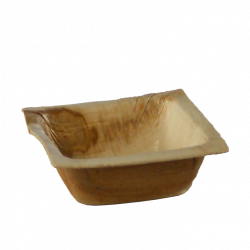Schale aus Palmenblatt 7 x 7 cm