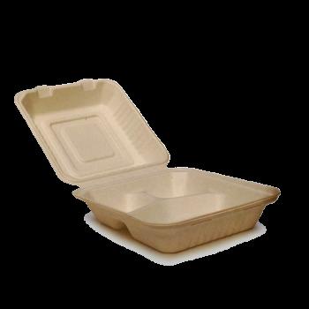 Lunchbox mit drei Fächern, 19 x 22 x 7,5