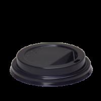 Schwarzer Deckel für 12/16 Oz Tasse