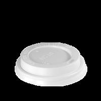 Weißer Deckel für 12/16 oz Tasse