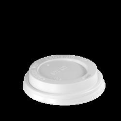 Weißer Deckel für 8 oz Tasse