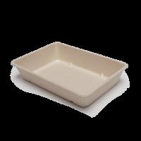 Tablett aus Zuckerrohrfasern - 23 x 15 x 4,5 cm