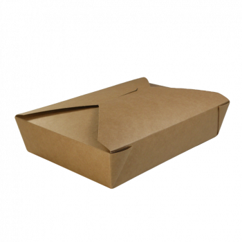 Takeaway food box, brown  1400 ml