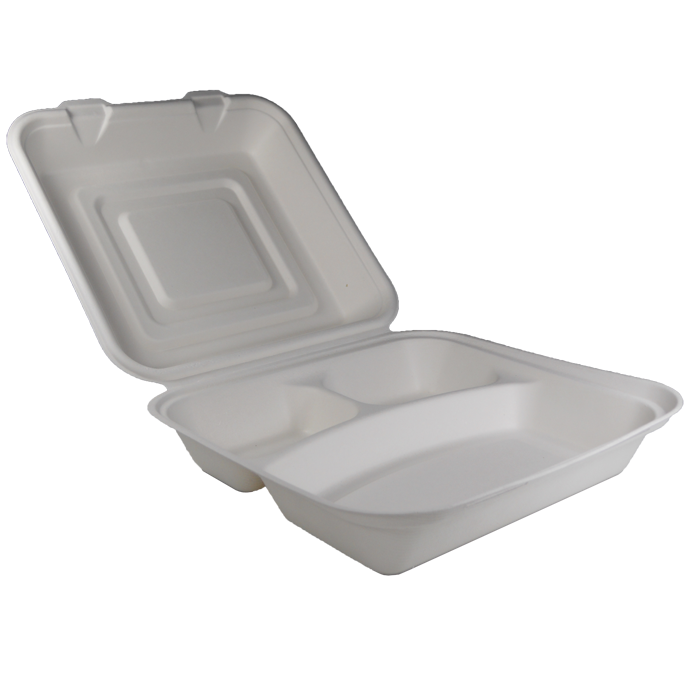 lunchbox mit drei f chern 23x22x8 cm. Black Bedroom Furniture Sets. Home Design Ideas