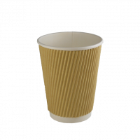 360 ml (12 oz.) gerippelte Tasse
