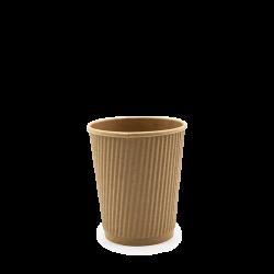 Pappbecher, geriffelt - 240 ml / 8 oz